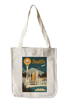Lantern Press 'Seattle Skyline' Tote Bag available at #Nordstrom