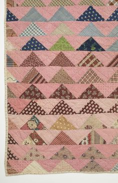 Child's Quilt, Flying Geese, USA, circa 1870, 36 1/2 x 33 1/2 in.,| LACMA collections