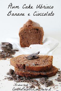 DRUNKEN PLUM CAKE with bananas and chocolate