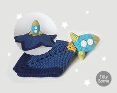 Rocket Lovey Pattern | Security Blanket | Crochet Lovey | Baby Lovey Toy Pattern Crochet Blanket Toy Lovey Blanket PDF Crochet Pattern
