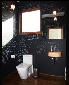 Chalkboard for boys bath