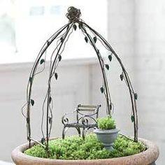 Miniature Garden Arbor or Trellis for Fairy Garden or Terrarium