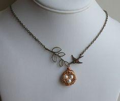 nest & bird necklace. love it!