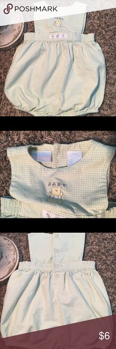 Miniwear Classics baby outfit, 3/6 months Excellent condition! Gender neutral. Green and white Plaid. miniwear One Pieces Bodysuits