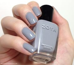 Zoya 'Carey'.. blue toned gray.