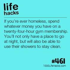 If You Ever Find Yourself Homeless | 1000 Life Hacks | Bloglovin'
