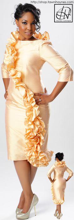 Tawni Haynes Ruffle Pencil Dress available in various colors @ http://shop.tawnihaynes.com, comment below, call 972-754-5096, or email sales@tawnihaynes.com