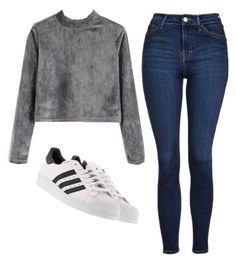 """""""Untitled #103"""" by pinkpotatos ❤ liked on Polyvore featuring Topshop and adidas"""
