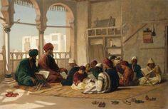 The Scholars - 1901 - Ludwig Deutsch (austrian) Islamic World, Islamic Art, Arabian Art, Islamic Paintings, Old Egypt, Islamic Pictures, Arabian Nights, Egyptian Art, Alhamdulillah