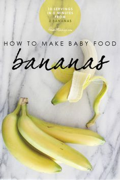 How to make homemade banana baby food