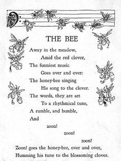 ≗ The Bee's Reverie ≗ Bee poem by rachel..54