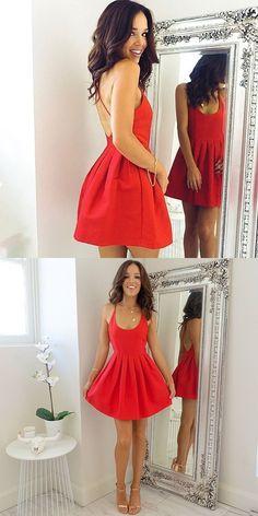 2017 homecoming dress, short homecoming dress, red homecoming dress, cheap homecoming dress, party dress