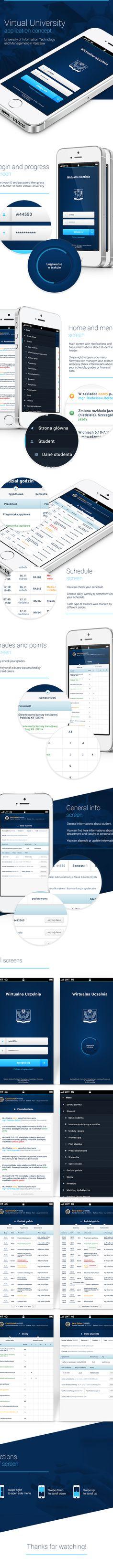 Virtual University -  application concept by Karol Cichoń, via Behance