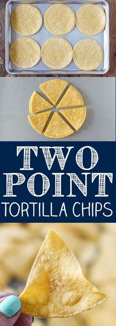 Two Point Weight Watcher Tortilla Chips - Easy Baked Tortillas Chips. 12 chips equal one serving. Weight Watchers Snacks, Weight Watcher Dinners, Plats Weight Watchers, Weight Watchers Smart Points, Weight Watchers Free, Weight Loss, Weight Watchers Guacamole Recipe, Air Fryer Recipes Weight Watchers, Appetizers