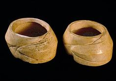 Wide shell bangles, each made from a single conch shell (Turbinella pyrum) found at Harappa.