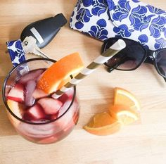 Happy World Cocktail Day! Head over to the blog for this delicious Spanish Red Sangria recipe!