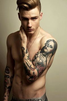 boys Unf tattoos ink male model BAMF muscle g thomas davenport idk i cant tag Thomas Davenport, Hipsters, Small Tattoos For Guys, Hipster Man, Fashion Mode, Sexy Tattoos, Tattos, Sleeve Tattoos, Male Beauty