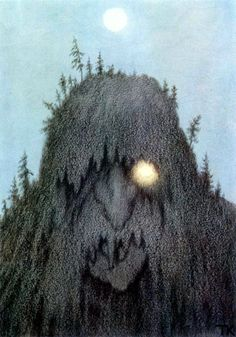Th. Kittelsen. Skogtroll, 1906 (Лесной тролль)