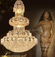 Lustre K9 Gold Crystal Chandelier Large Led Modern Chandelier Lighting Living Room Lobby Hotel Villa Engineering