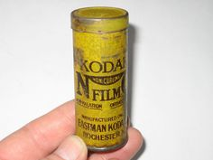 Early Vintage KODAK NON CURLING FILM SMALL TIN Rochester N.Y. USA