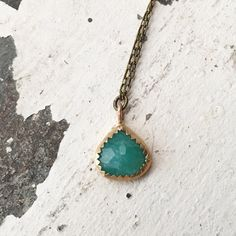 New Listing✨  Amazonite Drop Necklace, $49 Amazonite is an stone of manifestation and helps to increase Universal Love.  It's a stone of prosperity and is considered a good luck stone for games of chance.  It's also increases business.