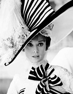 Audrey Hepburn...style !! My Fair Lady..Those were the days!!  Love it!