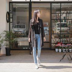 #envylook Trench Coat Style Sheer Jacket #koreanfashion #koreanstyle #kfashion #kstyle #stylish #fashionista #fashioninspo #fashioninspiration #inspirations #ootd #streetfashion #streetstyle #fashion #trend #style