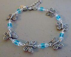 Beautiful Blue Topaz  Swarovski Crystal by PersnicketyPatty, $18.99