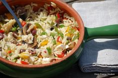 BBQ salade: Orzo pastasalade - Onze Franse keuken