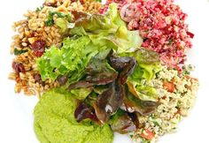 TENDER GREENS -  Farro Wheat Salad    3 1/2 cups farro    1/2 cup dried cranberries    3/4 cup sliced baby kale    1/2 cup chopped toasted hazelnuts    1/4 cup extra virgin olive oil    2 tablespoons plus 2 teaspoons golden balsamic vinegar    Salt and pepper.