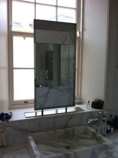 hand made vanity mirror. Mirror Mirror, Mirrors, Steel Frame, Oversized Mirror, Vanity, Stainless Steel, Handmade, Furniture, Home Decor
