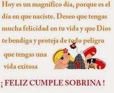 """""""Felicidades Lupita en este maravilloso día, mi deseo es que Dios siempre te acompañe a todas partes y que cada día se convierta en una maravillosa experiencia, feliz cumpleaños"""""""