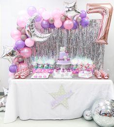 com Disco Art Birthday Party Disco Dessert Table from Dance Party Birthday, Art Birthday, Unicorn Birthday Parties, Birthday Ideas, Birthday Cards, Disco Party Decorations, Purple Birthday Decorations, Karaoke Party, Cookie Pops