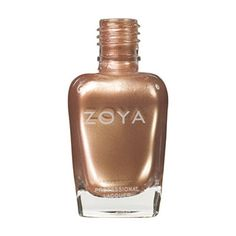 Austine: A soft pale gold metallic frost polish with subtle light orange and peach tones flecked with fine silver shimmer. Zoya Nail Polish has the hottest shades for all seasons and skin types, they'