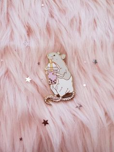 This is a listing for ONE boba rattie hard enamel pin approx Gray Rat - in stock now! Guinea Pig Toys, Guinea Pigs, Weird Jewelry, Cool Pins, Hard Enamel Pin, Metal Pins, Birthday Wishlist, Pin And Patches, Lapel Pins