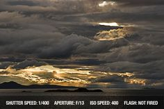 Dramatic, cloudy, stormy sky over water