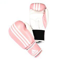 ADIDAS Response Boxing Glove: Pink/White