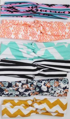 DIY headbands..doing this!!!!... themed outfits for hobokin,preppy, summer, cleopatra,nautical, tribal, floral, etc. :)