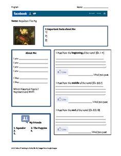 Facebook Character Profiles Worksheet