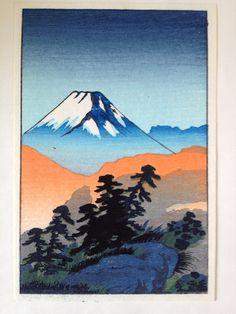 Handmade Japanese Color Woodblock Woodcut by greencycledesignLA, $45.00