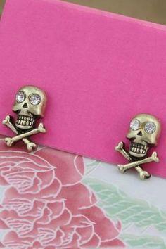 Skull Heads with Crossbones Earrings