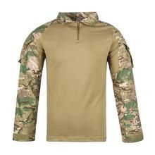 Men Combat Shirt Tactical Special Forces Camouflage Clothing Outdoor Training Military Uniform Adult Army Tops S Camouflage Clothing, Combat Shirt, Man Dressing Style, Special Forces, Men Dress, Fashion Dresses, Army, Military, Training