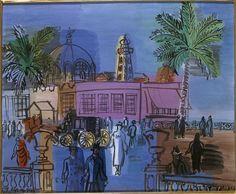 La jetée-promenade à Nice. Raoul Dufy. Vers 1926.