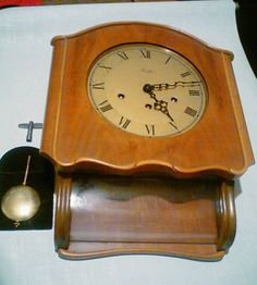 German Mauthe Wall Clock Westminster Chime