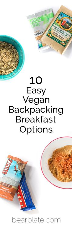 Breakfast on the trail doesn't need to be complicated! van life hacks life food hacks life hacks cleanses life hacks ideas life hacks mini life hacks road trips life hacks tips Hiking Food, Backpacking Food, Camping Meals, Camping Recipes, Camping Stuff, Vegan Recipes Easy, Vegetarian Recipes, Vegetarian Camping, Vegan Breakfast Options