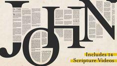 Gospel of John Scripture Reading Intro Videos Church Graphic Design, Church Design, Graphic Design Posters, Graphic Design Inspiration, Typography Design, Church Logo, Sermon Series, Book Layout, Grafik Design