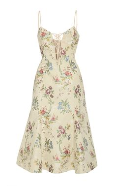 Floral Cotton Silk Dress by Brock Collection Cute Casual Outfits, Pretty Outfits, Pretty Dresses, Beautiful Dresses, Casual Dresses, Summer Dresses, Look Fashion, Fashion Outfits, Dress Outfits