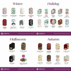 Prize Post!!!!! Check out these Fall and Winter designs that will be released on TUESDAY!!!!! Comment below with your top 4 favorites from these collections!  Each comment is an entry to win a Sample Card of Accent Nails!! Winner will be posted toinght at 8 PM CT! And everyone that books a party with me for September or October gets a FREE HALF SHEET of a seasonal wrap of their choice!!!!!! #fallmani #autumnmani #jamwithstephaniegrace #Halloweenmani