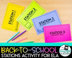 Back-to-School Stations for Secondary ELA: How I Use Stations in My High School Classroom High School Reading, Middle School Ela, High School Classroom, First Day Of School, Back To School, First Day Activities, High School Activities, Student Survey, 6th Grade Ela