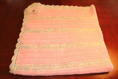 """Baby Blanket - Pink Variegated 37"""" 37"""" $40 +shipping"""